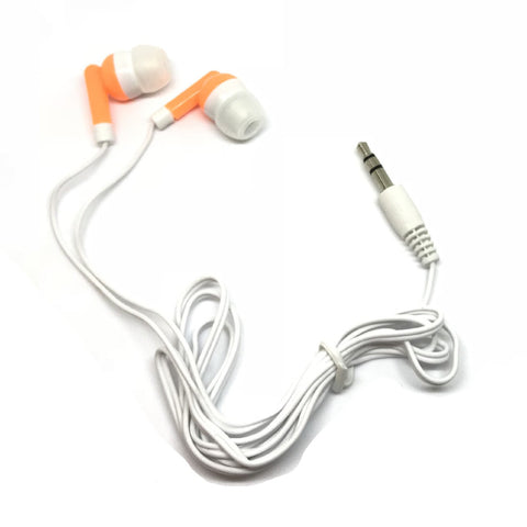Orange Stereo Earbud Headphones