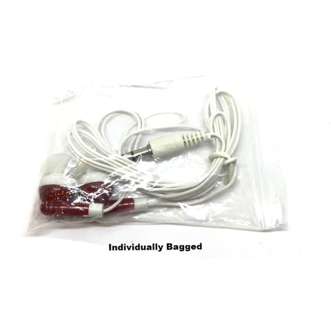 Maroon Red Stereo Earbud Headphones