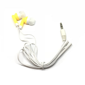 Yellow/Gold Stereo Earbud Headphones
