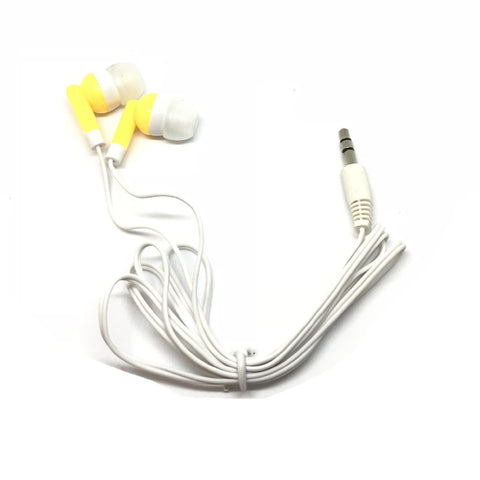 Image of Yellow/Gold Stereo Earbud Headphones