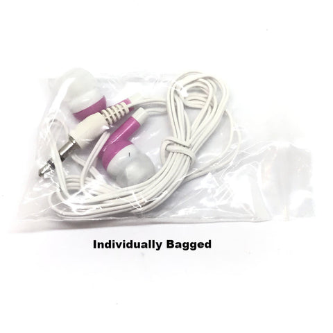 Image of Pink Stereo Earbud Headphones