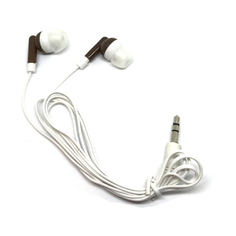 Brown Stereo Earbud Headphones