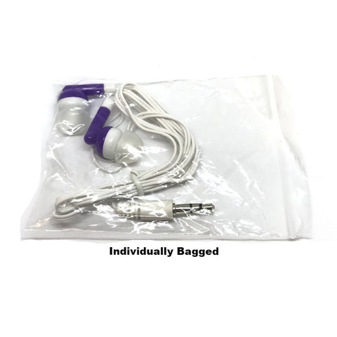 Purple Stereo Earbud Headphones