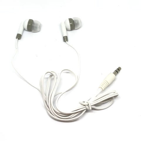 White Stereo Earbud Headphones