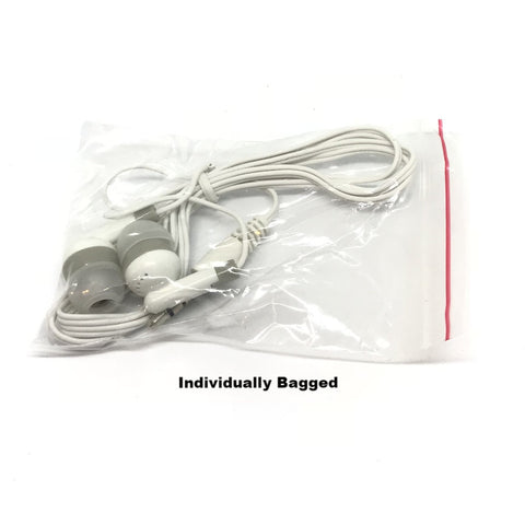 Image of White Stereo Earbud Headphones