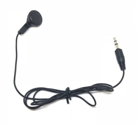 Black Single Ear Earbud Headphones