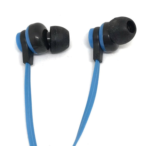 Image of Premium Blue Stereo Deluxe Earbuds With Microphone