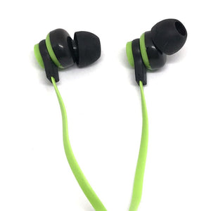 Premium Green Stereo Deluxe Earbuds With Microphone