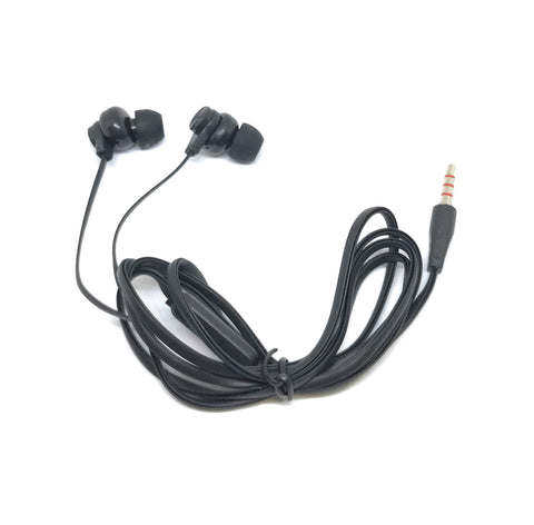 Image of Premium Black Stereo Deluxe Earbuds With Microphone