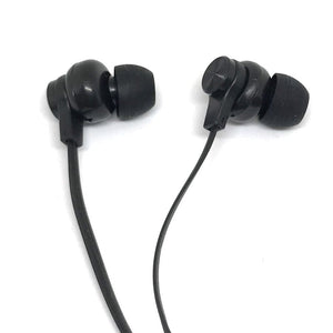Premium Black Stereo Deluxe Earbuds With Microphone