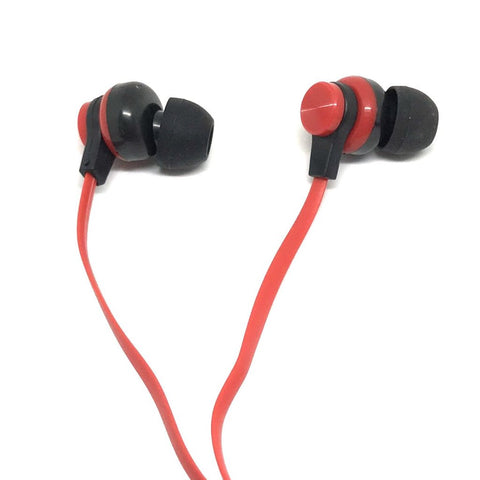 Image of Premium Red Stereo Deluxe Earbuds With Microphone