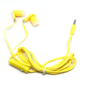 Yellow/Gold Stereo Deluxe Earbuds With Microphone