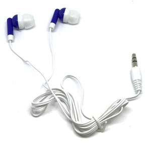 Royal Blue Stereo Earbud Headphones