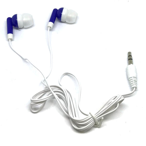 Royal Blue Stereo Earbud Headphones - Back in Stock Mid November