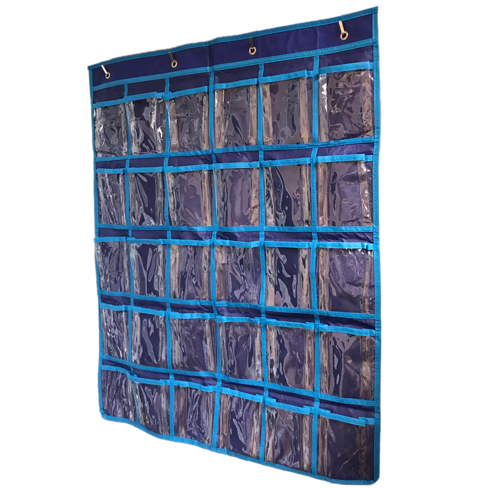 Wall/Door Hanging 30 Earbud Organizer - Holds 30 Earbuds