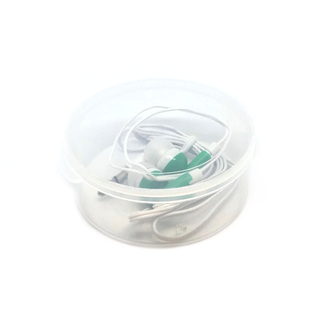 Green Stereo Earbud Headphones