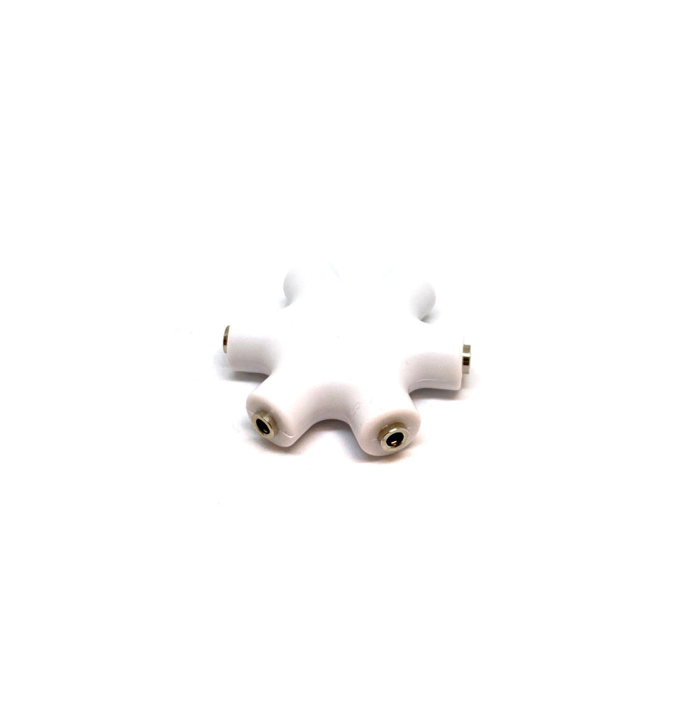 Earbud and Headphone 5 Way Audio Splitter With Cord