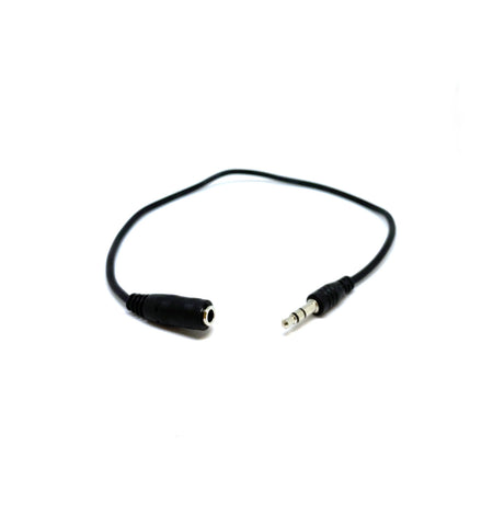 3.5mm Earbud/Headphone Extension Cable - 1Ft