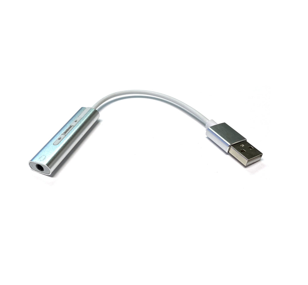 USB Earbud/Headphone Adapter - Sound Card 3.5mm to USB