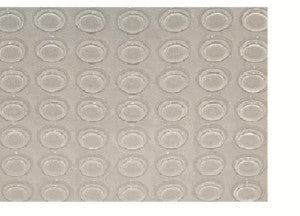 Rubber Feet Cylindrical Clear Bumpers 100 pieces Self-Adhesive