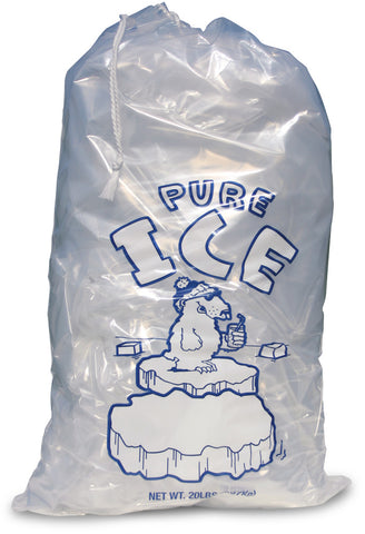 20lb Clear Ice Bags Qty 250