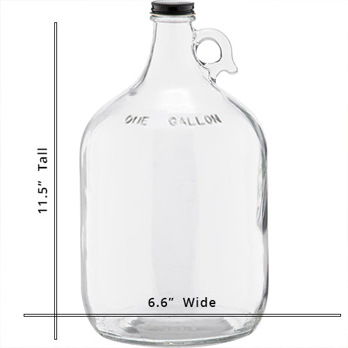1 Gallon Glass Jug With Screw Cap (6 Pack)