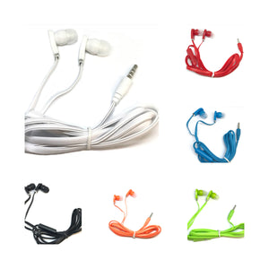 Mixed Color Stereo Deluxe Earbuds With Microphone