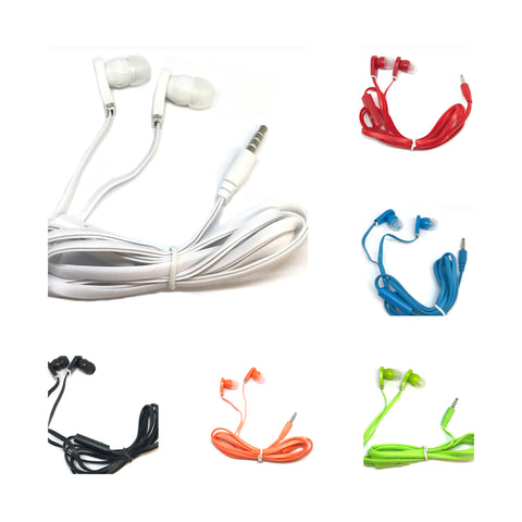 Mixed Color Stereo Deluxe USB Earbuds With Microphone