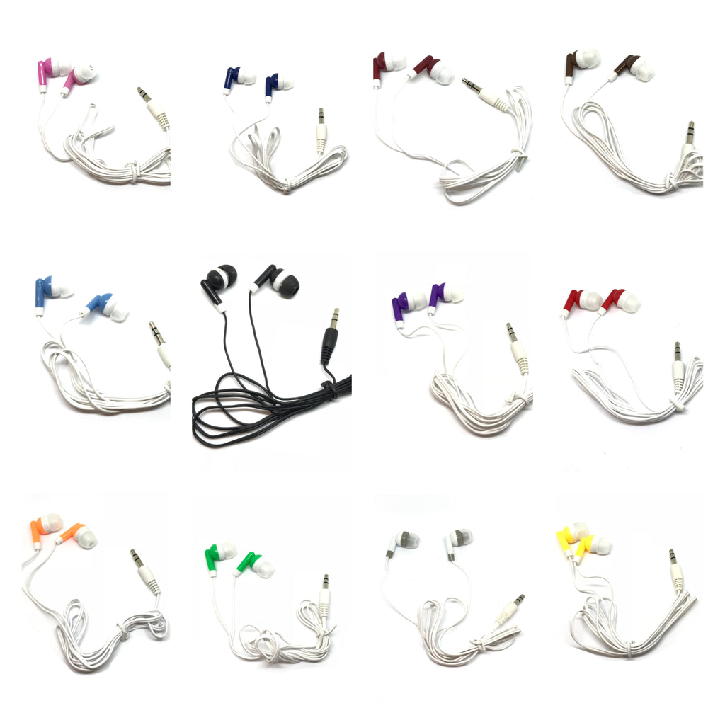 Mixed Color Stereo USB Earbud Headphones