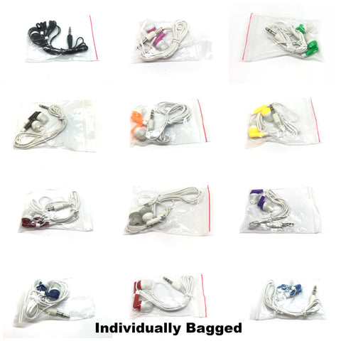 Image of Mixed Color Stereo Earbud Headphones
