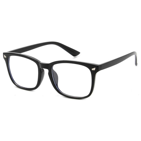 Adult Blue Light Blocking Glasses - Black Frame - Reduce Electronic Eye Strain