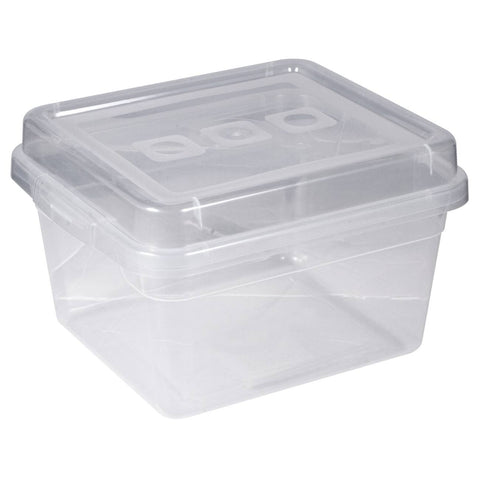 Image of Reclosable Plastic Storage Bin With Lid - Fits 50 Bagged Earbuds
