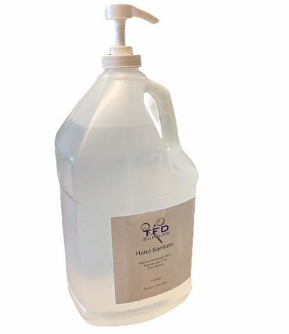 1 Gallon Hand Sanitizer - 80% Alcohol Antibacterial Gel With Pump - Free Shipping