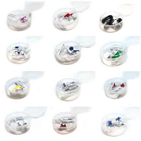 Image of Mixed Color Stereo Earbud Headphones - Ships December 2020