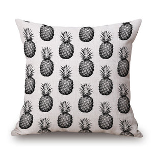 Square Pineapple Flower Pillows Cover 45x45cm - Wishfulwall