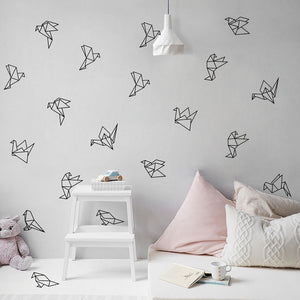 Wall Decal Geometric Origami Birds - Wishfulwall
