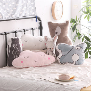 Cartoon Clouds Rabbit Emoji Elephant Decorative Pillow - Wishfulwall