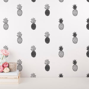Modern Vinyl Pineapple Wall Decal - Wishfulwall