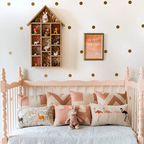 Gold Polka Dots Vinyl Wall Sticker - Wishfulwall