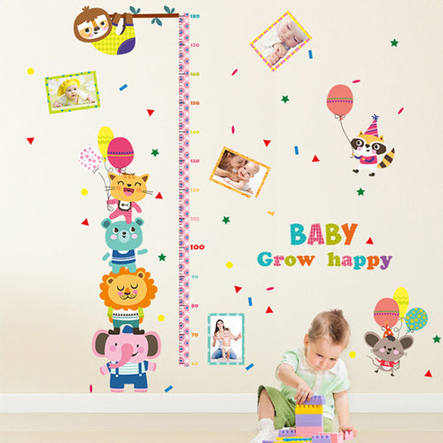 Jungle Animals Growth Chart Wall Sticker - Wishfulwall