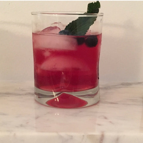 Blueberry Vodka Kombucha Cocktail Recipe by YEABUCHA