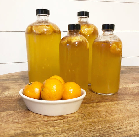How to make cinnamon mandarin kombucha at home