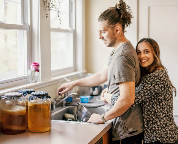 Start your morning with a glass of kombucha