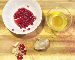 YEABUCHA's recipe for making pomegranate ginger kombucha.