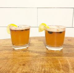 Lemon Lambic Kombucha Cocktail