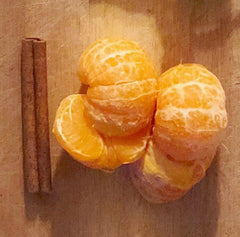 recipe for making cinnamon mandarin kombucha at home.
