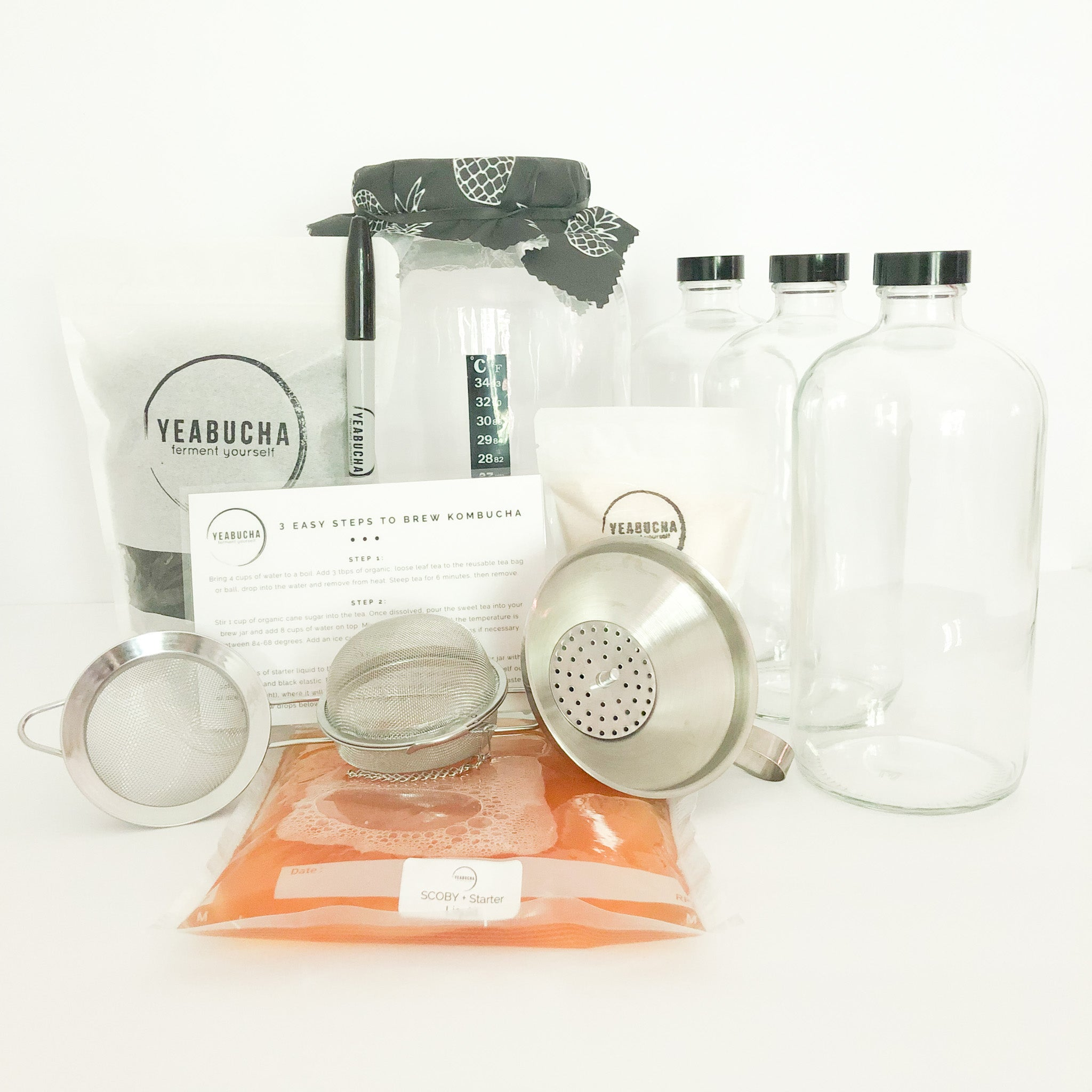 Deluxe Kombucha Home Brew Kit