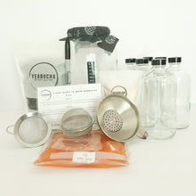 YEABUCHA Deluxe Home Brew Kombucha Kit. includes brew jars, SCOBY, Tea, organic sugar, and everything needed to start brewing.