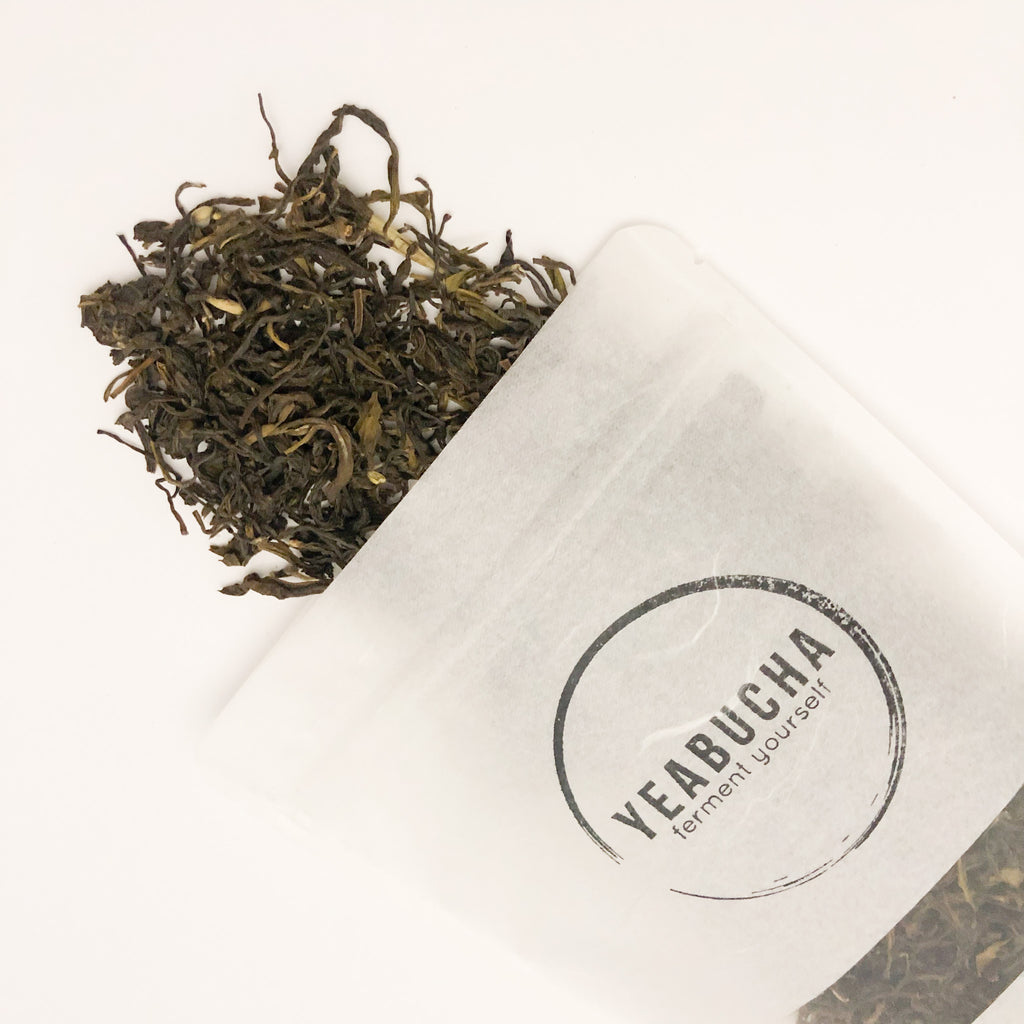 YEABUCHA Sustainable sourced, loose leaf, organic green tea for Home Brewing Kombucha