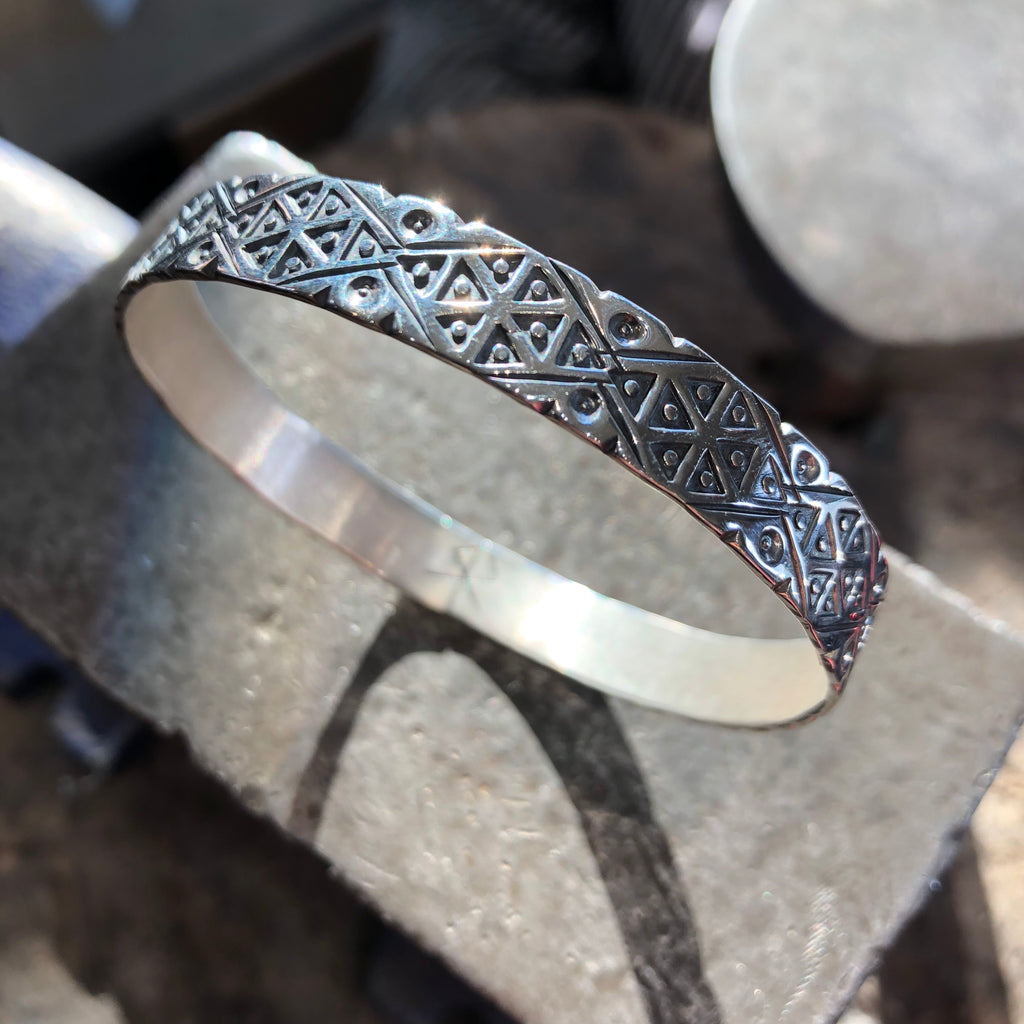 Bracelet Bangle Argent Triangulo